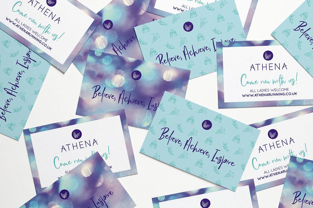 Portfolio project: Athena business cards | Beehive Green Design Studio