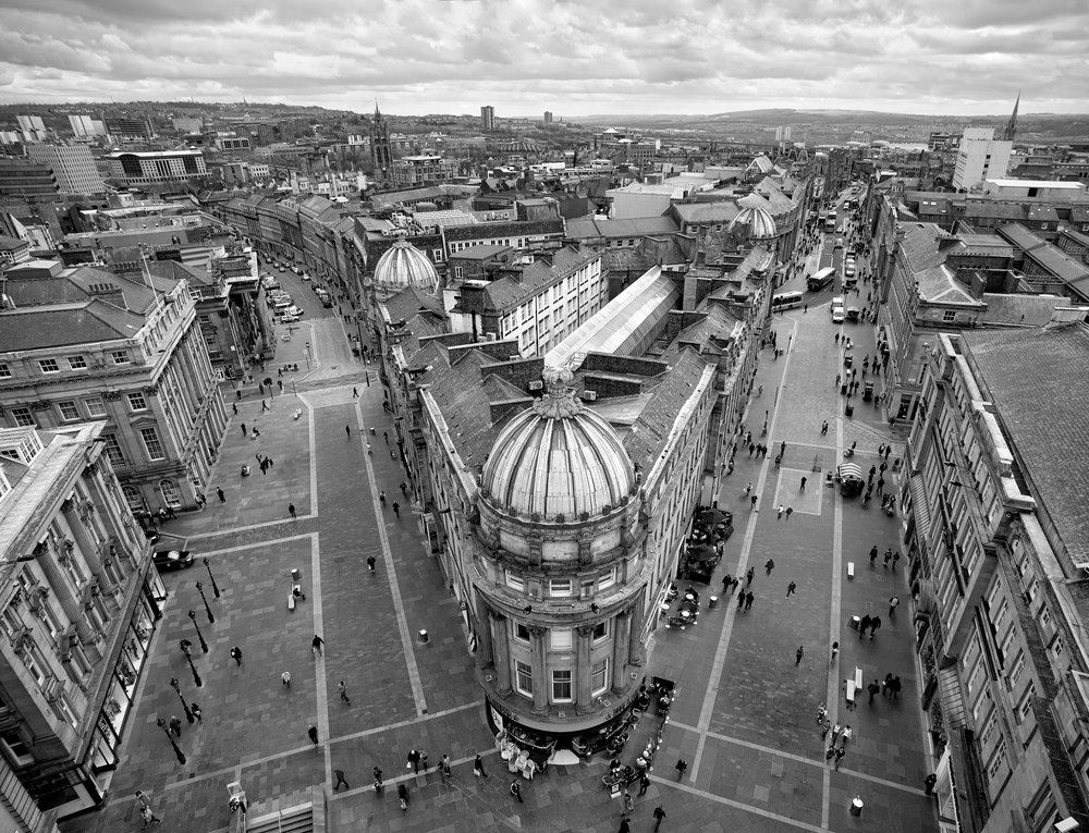 view from Grey's monument in newcastle upon tyne