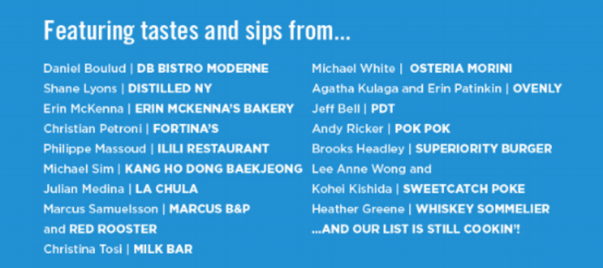 Click the image above to learn more about our wonderful participating chefs their restaurants!