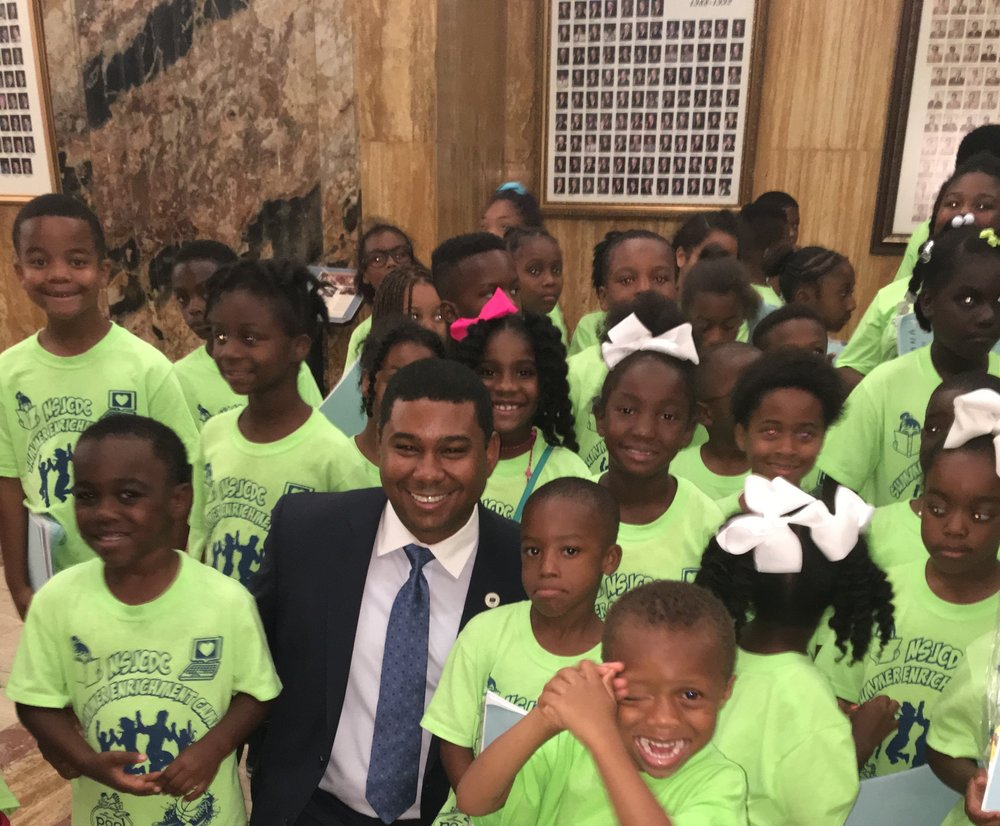 Gary with children from New St. Joseph Missionary Baptist Church of Algiers