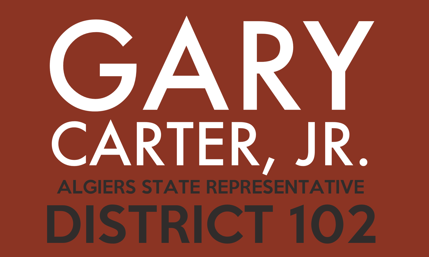 Representative Gary Carter, Jr.