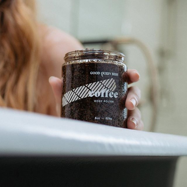 Wake up your skin with our Coffee Body Polish! It's full of caffeine that will will tighten and brighten your skin. . . . . . . #selfcare #botanical  #neworleans #goodqueenbess #girlboss # #nolamade #matcha #coffeelove #coffee #coffeeskin #loveyoumatcha #neworleansmua #topshelfie #skincareobsessed #skincareroutine #skincareshelfie #selflove #selfcare #selfcaretips #skincareessentials #igtopshelfie #skincarejunkie #instaskin #intothegloss