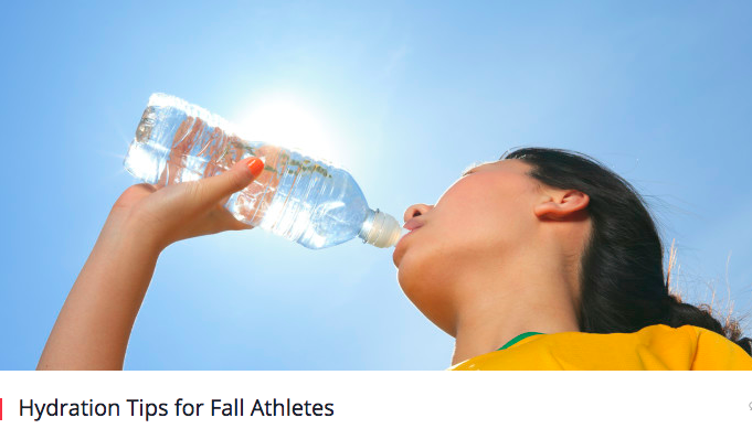 Hydration Tips for Fall Athletes The Micheli Center Blog, 2016