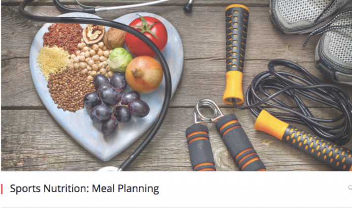Sports Nutrition: Meal Planning The Micheli Center Blog, 2016