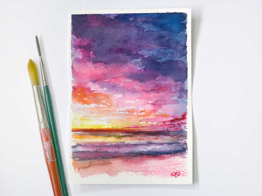 watercolour_sunset
