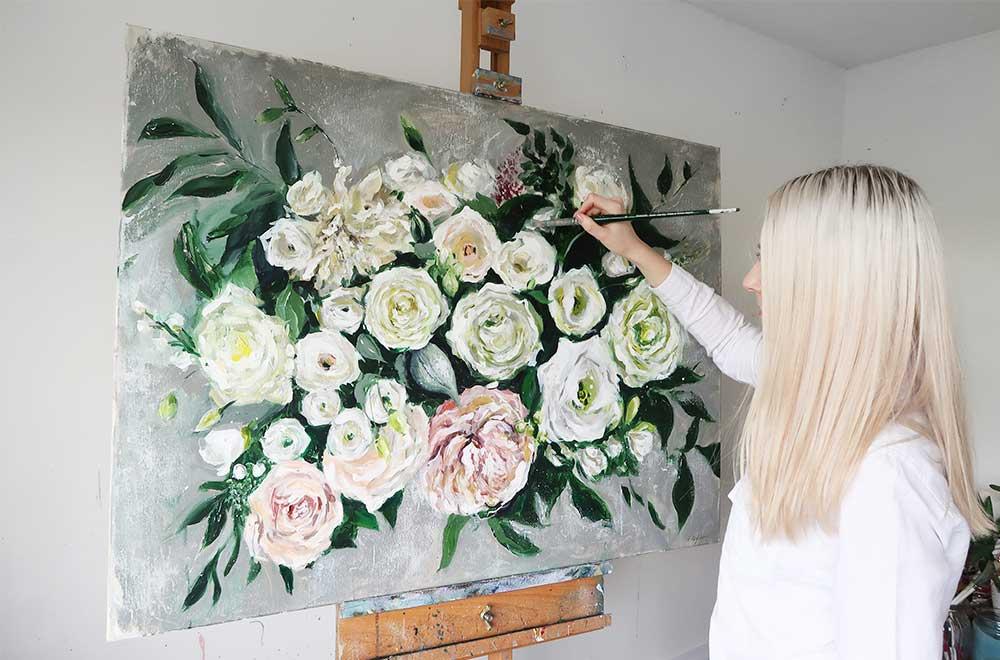 Wedding Bouquet Painting — Katie Jobling