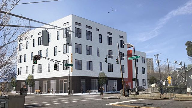 Downtown mixed-use, Vermilion Lofts, coming soon.