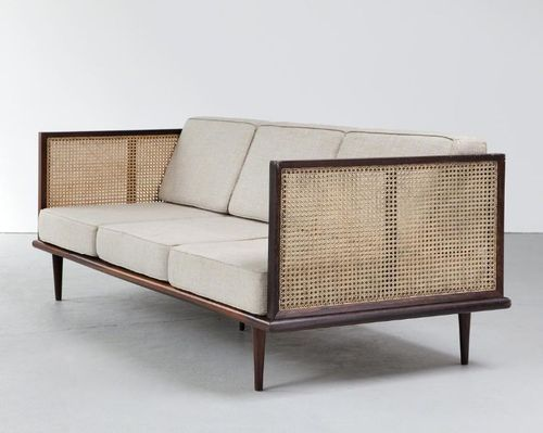 Martin Eisler; Jacaranda and Cane Sofa for Forma, 1950s