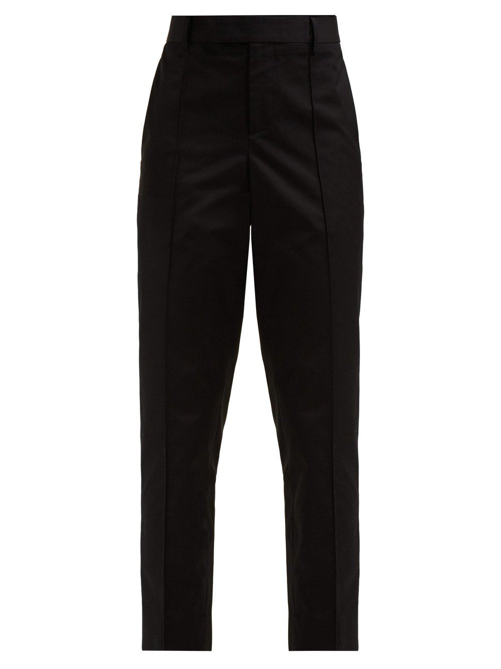 Slim-leg cotton-poplin trousers