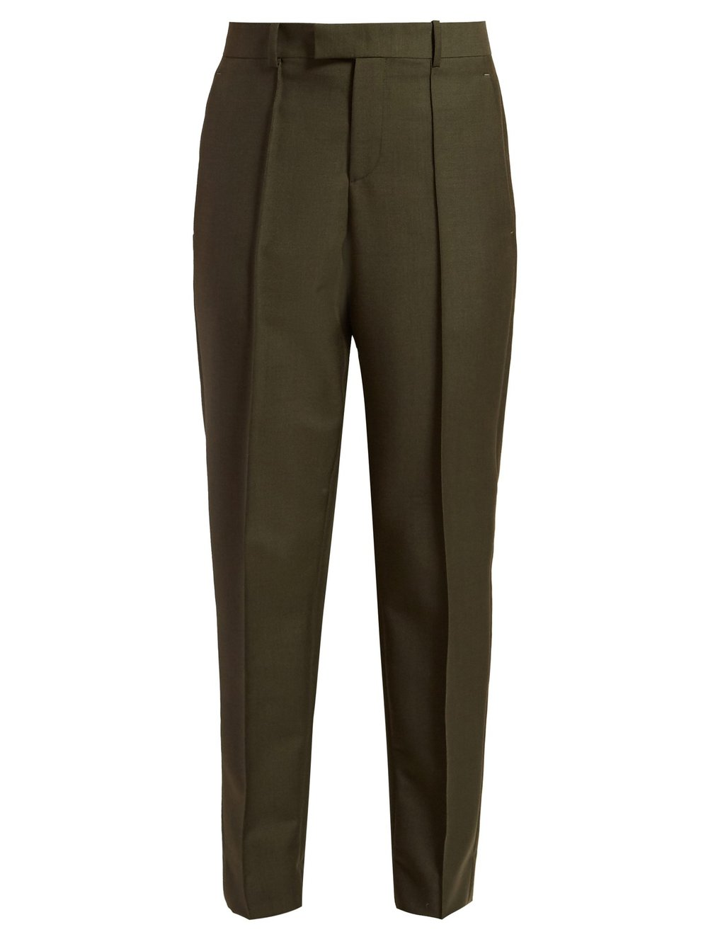 Tapered crepe trousers