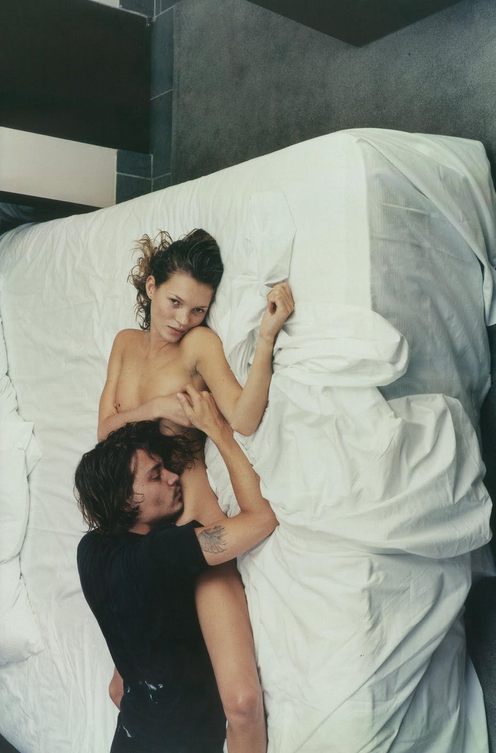 Johnny Depp & Kate Moss by Annie Leibovitz - 1994