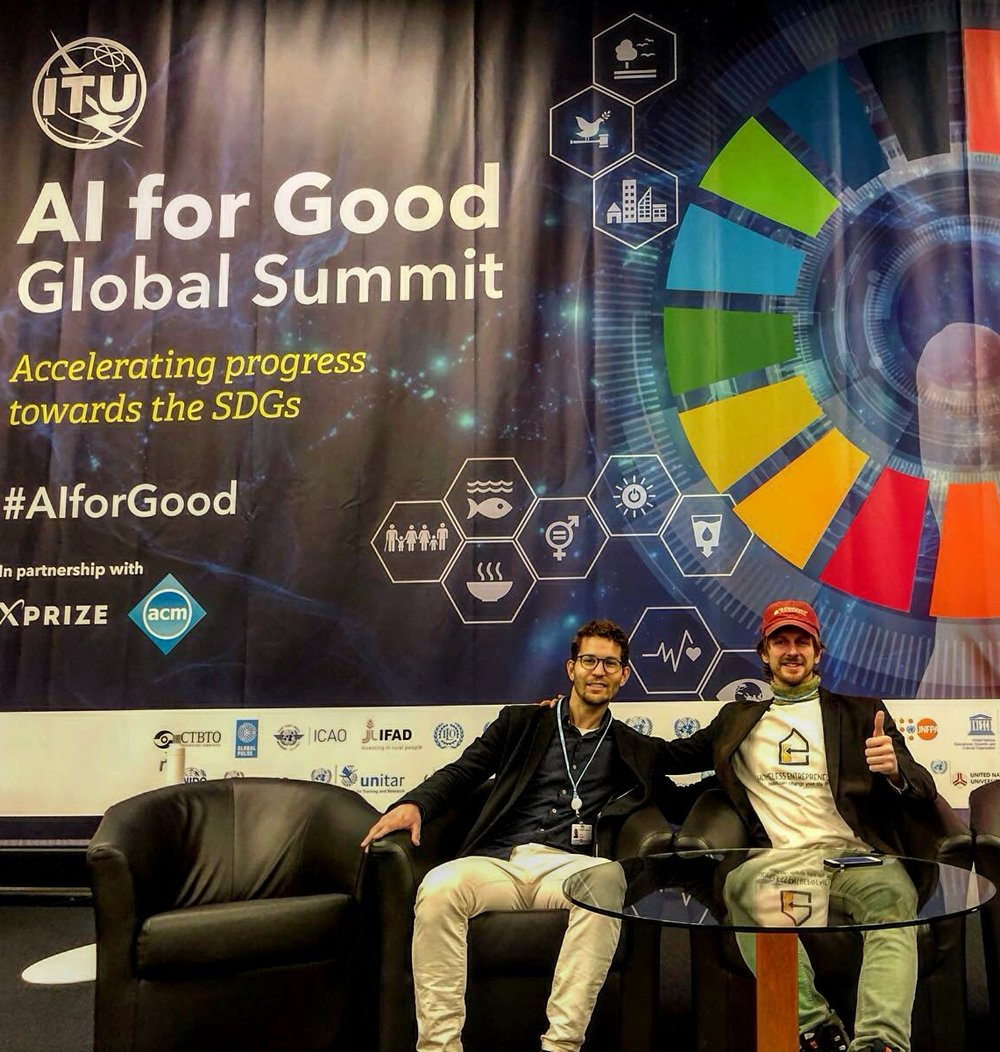 Giving homeless people a voice in Gevena at ITU (United Nations) to discuss and promote how AI can speed up the process of ending homelessness.