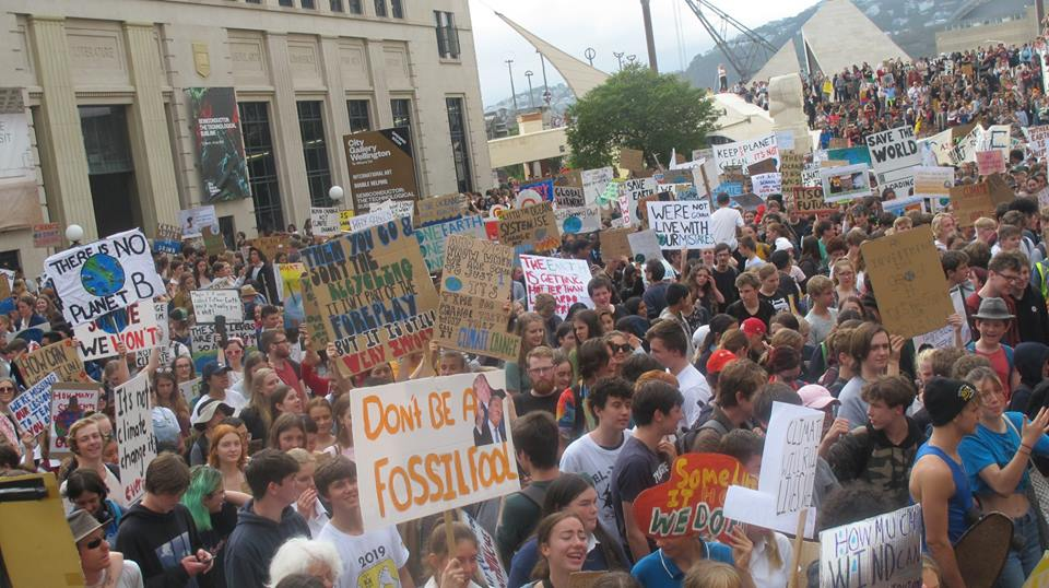 FridaysforFuture - school strike for climate, Wellington March 15th 2019