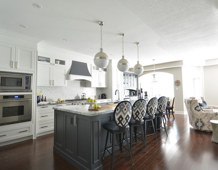 Best 25+ White Kitchen With Gray Countertops Ideas On Pinterest | Gray And White  Kitchen, White Kitchen Designs And White Kitchen Cabinets