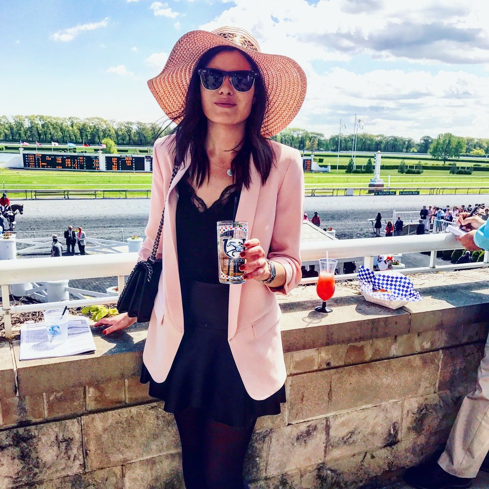 talk derby to me  - a day at the races, check out arlington race track, not in chicago but only a 30 minute drive, i went to celebrate the derby and it was in full swing, bit hats, mint juleps and all! -xoxojackie