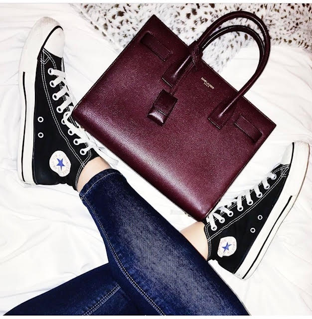 got chucks on with saint laurent... - my favorite pair of blue jeans are by joe's jeans,