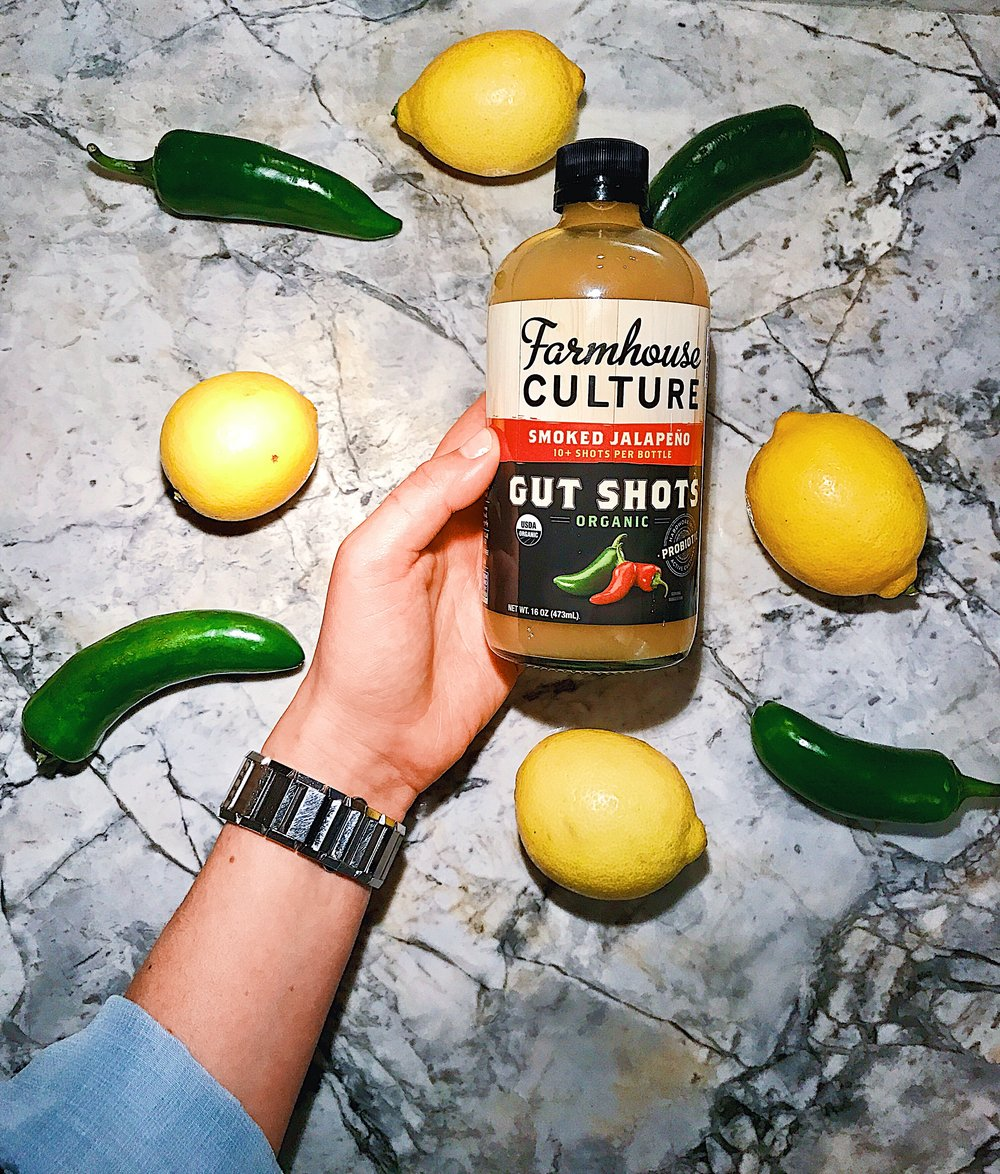 gut shots. - the tastiest probiotic shot by farmhouse culture, gluten-free & dairy-free & vegan! warning, has a strong kick to it!