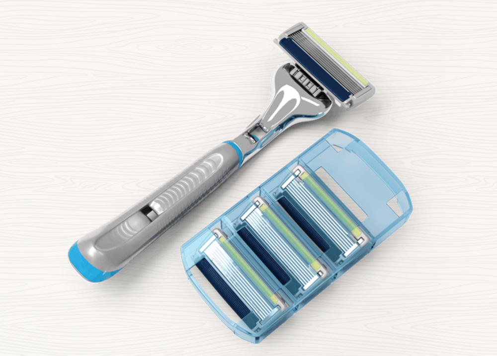dollar shave club - the executive razor, is the best & most affordable razor i have ever used! yes it is supposed to be for a man but i mean who cares, and it gets delivered to your front door every month!! click hereto join the club at a discount!