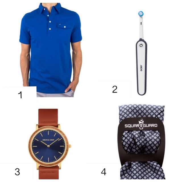 "my father's day gift guide (for all the amazing dad's, grandpa's, uncles, brother's,  step-dad's, the mailman, whoever fills those dad shoes in your life)   1.for the preppy player who needs the  perfect shirt,  the criquet shirts  "" the new old school golf shirt"" according to the wall street journal,  click here to get   20% off with code""JACKIE20""      2.for the  guy in your life you love to see smile,  get him goby , an underpriced and sleek looking electric toothbrush,  click here to get your goby on .    3.for the unique man in your life who needs the perfect watch,   original grain  has watches made from all natural, sustainable hardwoods and stainless steel from recycled wood from Kentucky bourbon barrels or yankee stadium seats, no two watches are the same,  receive 20% off + a free bracelet with code ""OGDAD2"" click here.    4. for the classy gent in your life who needs the the perfect pocket square,  squarequard  takes the fuss out of it all & can be used with any pocket square you already have, get 20% off with code  "" JACKIE20"" click here ."