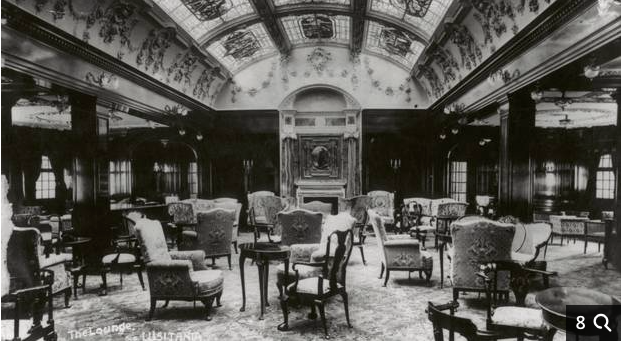 Interior of the Lusitania
