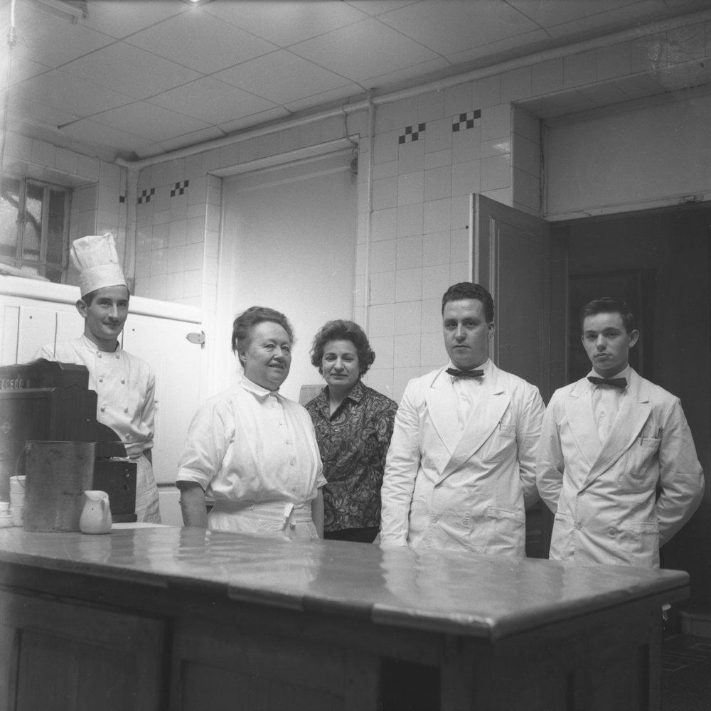 Eugénie Brazier with her team