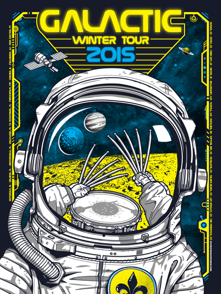 Galactic: Winter Tour 2015...AVAILABLE IN THE STORE