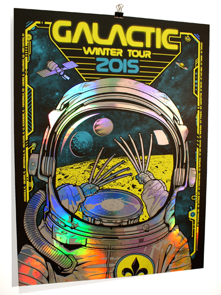 Galactic: Winter Tour 2015 Rainbow Foil