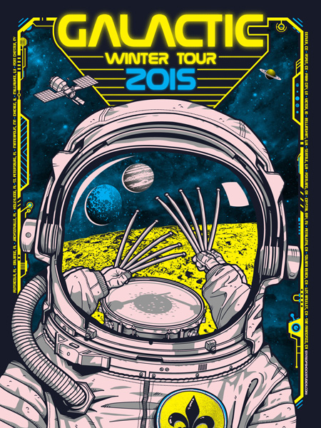 Galactic: Winter Tour 2015 Pink Variant