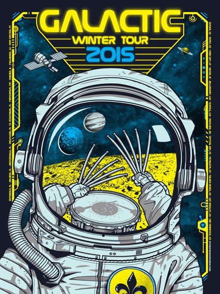 Galactic: Winter Tour 2015 Snocone Variant