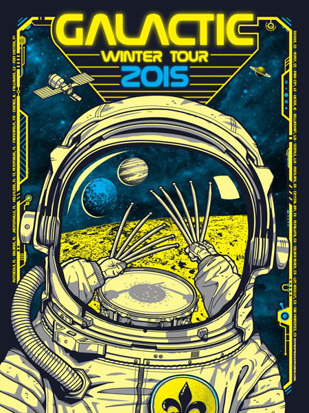 Galactic: Winter Tour 2015 Yellow Variant