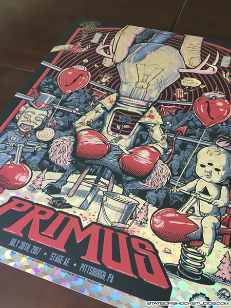 Primus: Pittsburgh 2017 Cubic Foil