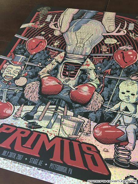 Primus: Pittsburgh 2017 Kaleidoscope Foil