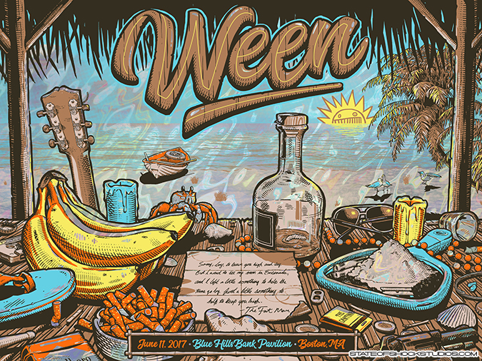 Ween: Boston 2017 Lava Foil