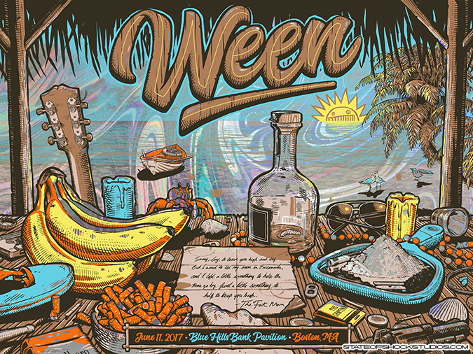 Ween: Boston 2017 Oil Slick Foil