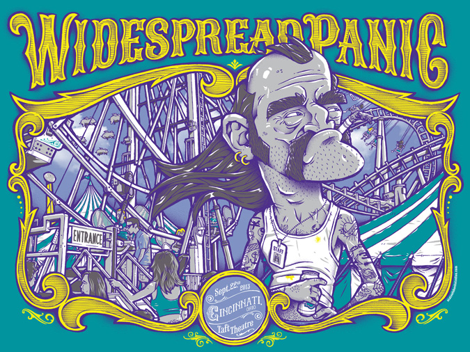 Widespread Panic: Cincinnati 2013 Green Variant