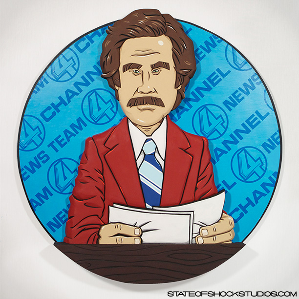 "Anchorman     2012. Mixed media, 19x3x20"".   SOLD"