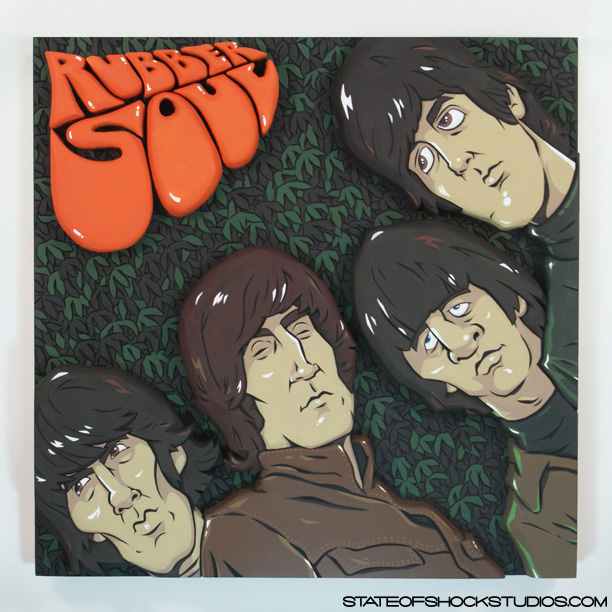 "Rubber Soul     2013. Mixed media, 19x3x19"" AVAILABLE IN THE STORE"