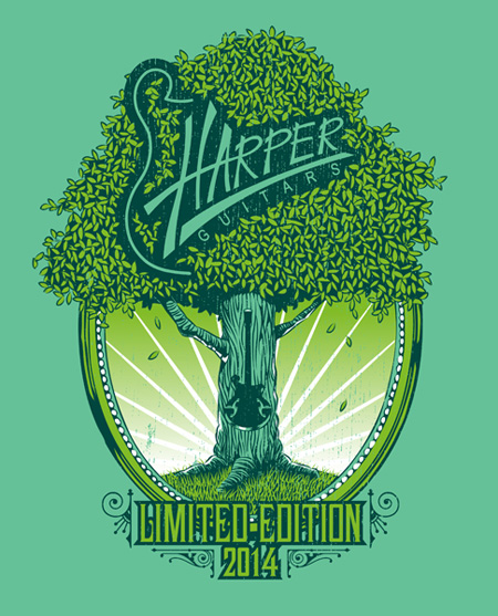 Harper Guitars: Shirt Design