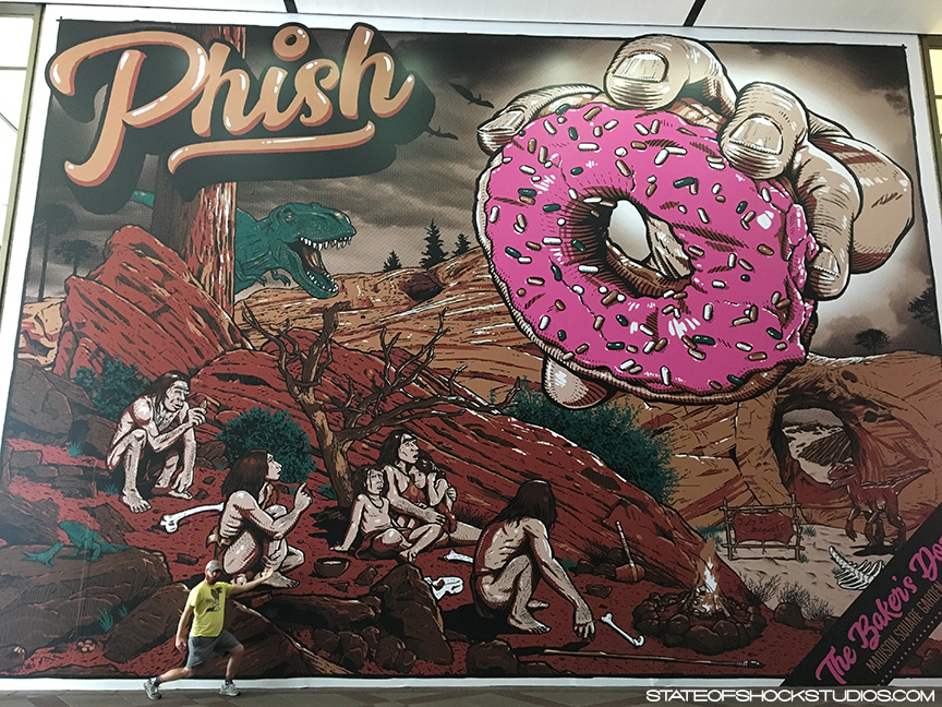Phish: Baker's Dozen Mural at Madison Square Garden