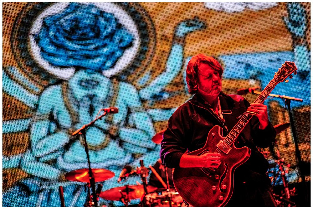 Poster design projected on stage during Widespread Panic concert...2014  Photo by Andy Tennille Photography
