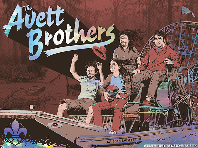 The Avett Brothers: Lafayette 2018 Rainbow Foil