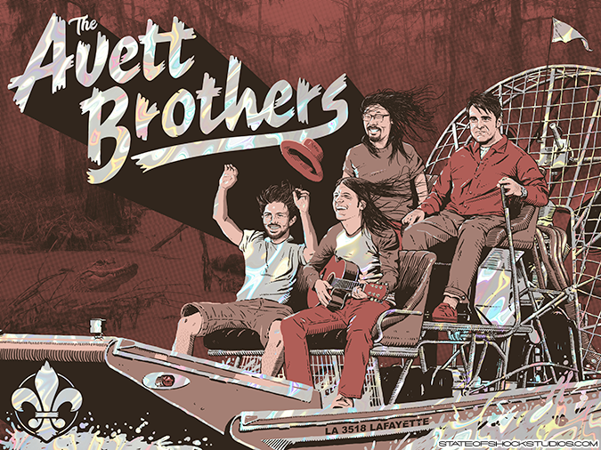 The Avett Brothers: Lafayette 2018 Lava Foil