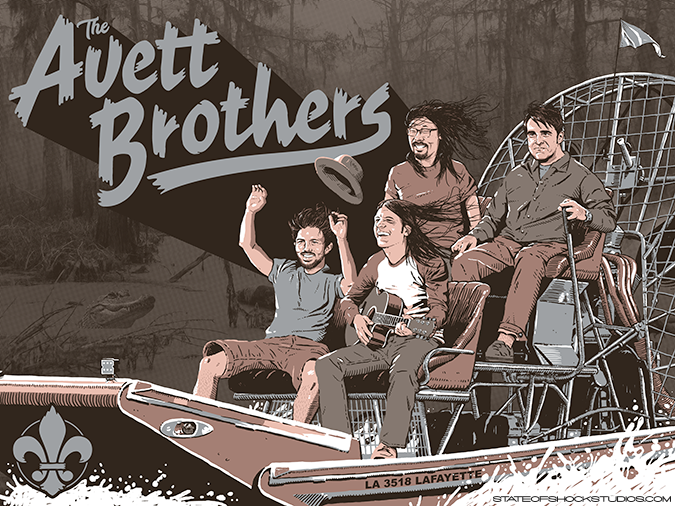 The Avett Brothers: Lafayette 2018 Grey Variant