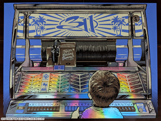 311: Summer Tour 2018 Rainbow Foil