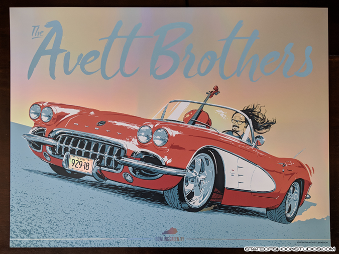 Avett Brothers: Bowling Green 2018 Rainbow Foil