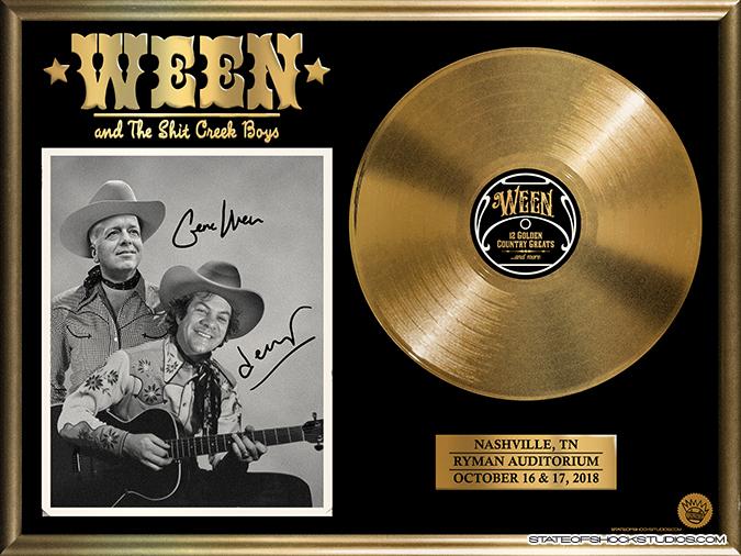 Ween: Nashville 2018 Shiny Gold Foil