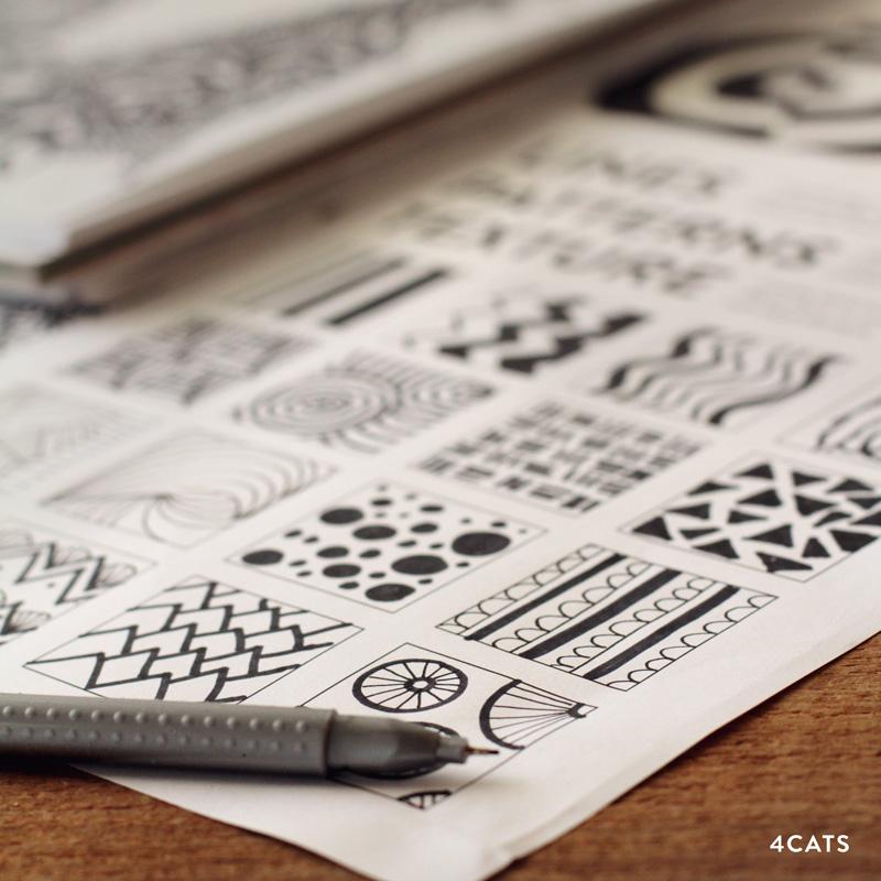 OCTOBRE: COMPOSITION - - Lignes, motifs, textures et exploration d'espace négatifs- Narration visuelle- magazines et mini comiques- Dessins mélangés et surréalistes- Manga