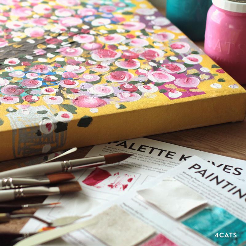 OCTOBRE: STYLE ET INSPIRATION DE PEINTURE - Apprenez les différentes manières d'utiliser un pinceau et un couteau de peinture | double peinture, couches, grattage, pour vous inspirer à créer votre propre chef d'oeuvre.