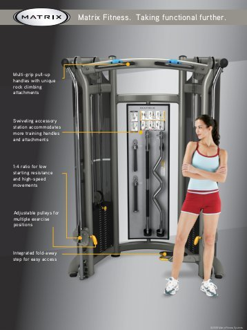 Functional training - The Matrix functional trainer is an all in one unit to challenge yourself even further while enhancing your everyday movements.