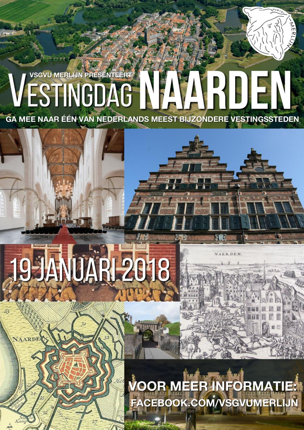 19-01 - Op 19 januari volgend jaar, na de kerstvakantie dus, gaan we samen met Mevrouw Kuijpers op een historisch dagje uit naar Naarden, op Merlijns eerste Vestingdag! Op deze dag zullen we leren over de geschiedenis van wat door velen de meest bijzondere vestingstad van Nederland wordt genoemd.